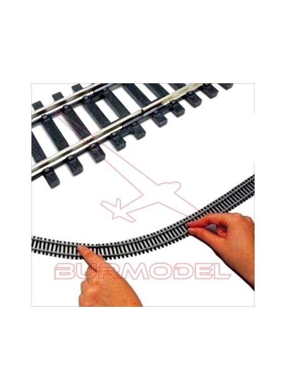 Vía flexible escala H0 1:87