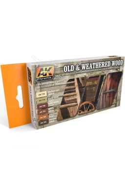 Set de colores madera desgastada AK Interactive