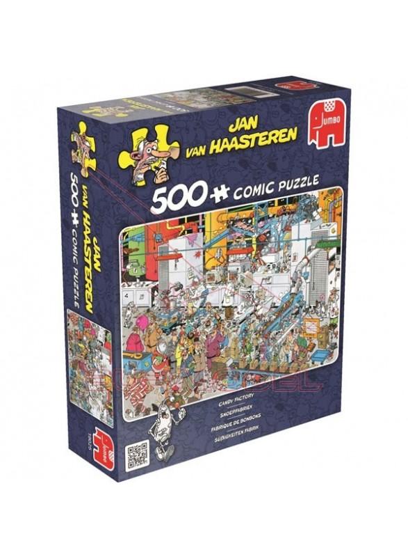Puzzle La fábrica de caramelos 500 piezas