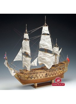 Barco de madera HMS Prince 1670 escala 1/61