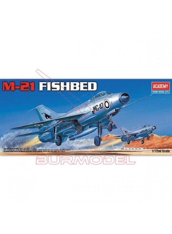 Maqueta de plástico Avión MIG-21 Fishbed 1/72