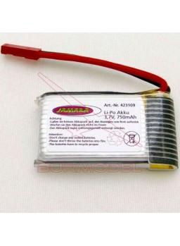 Batería Loky Lipo 3,7V 750mAh conector BEC