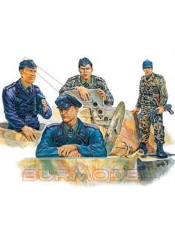 Figuras plástico tripulación de tanques IIGM 1:35