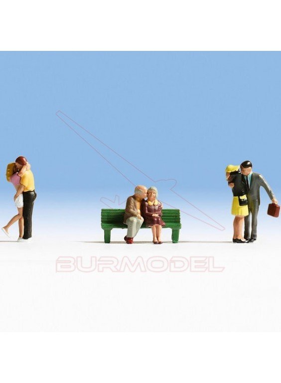 Personajes enamorados modelismo ferroviario H0