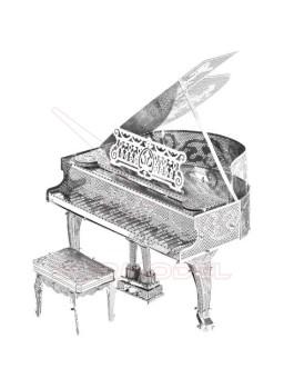Maqueta de metal Piano 3 dimensiones