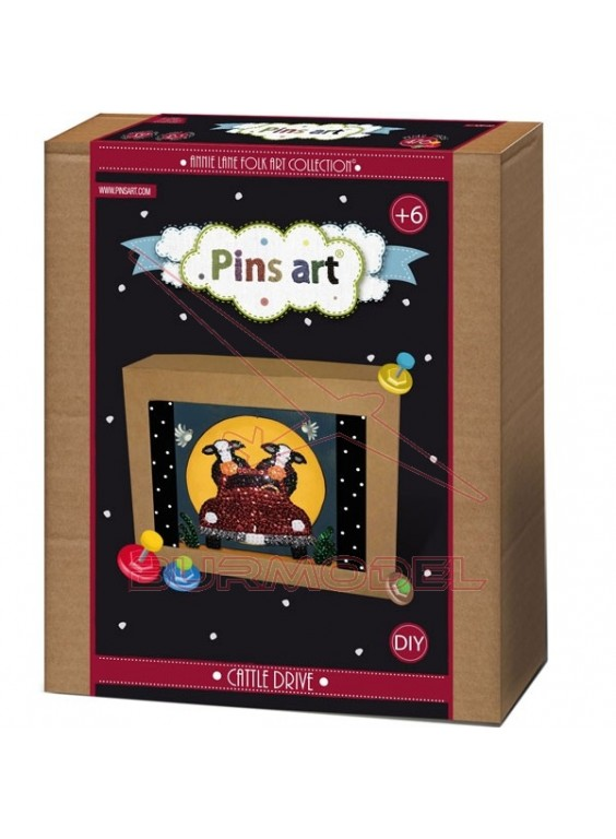 Juego Pins Art Cattle Drive