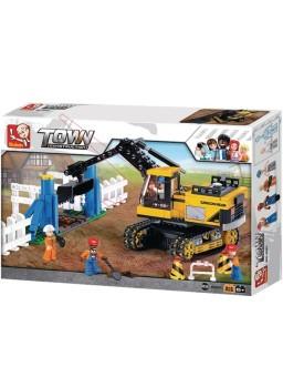 Juego de construcción excavadora con cadenas