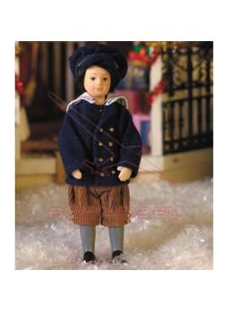 Niño escala 1/12 para casitas de muñecas