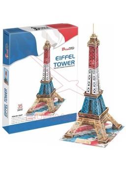 Puzzle 3D Torre Eiffel colores bandera francesa