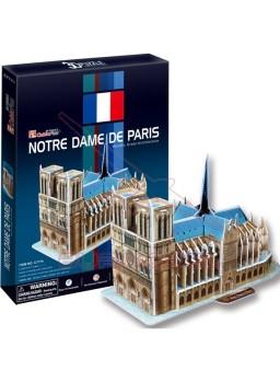 Puzzle 3 Dimensiones Notre Dame París 40 piezas