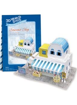 Puzzle 3 dimensiones tienda de souvenirs 43 piezas