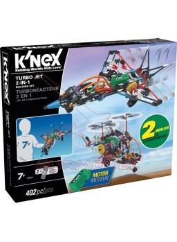 K'Nex construcción 402 piezas Turbo Jet 2 en 1