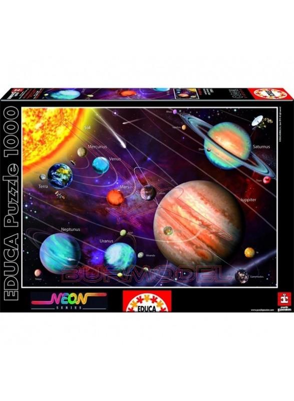 Puzzle neón 1000 piezas Sistema solar
