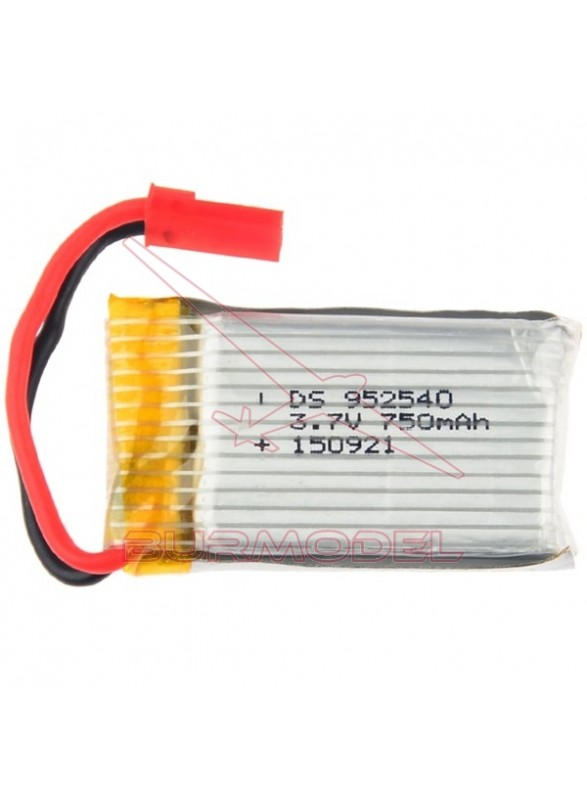 Batería 3.7v 750mAh Conector Bec Drone Octopuss Z1