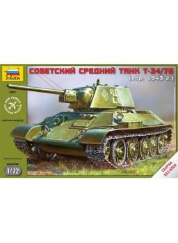 Maqueta tanque soviético T34/76 mod. 1943 1/72