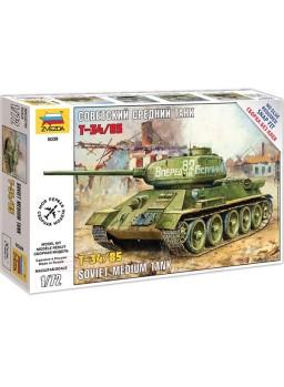 Maqueta tanque soviético T-34/85 1/72