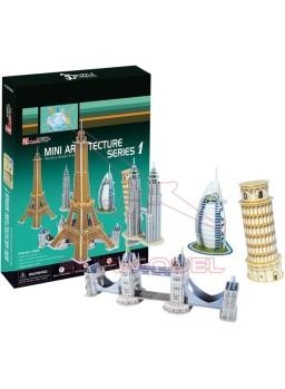 Puzzle 3D 98 piezas Mini Arquitecture serie 1