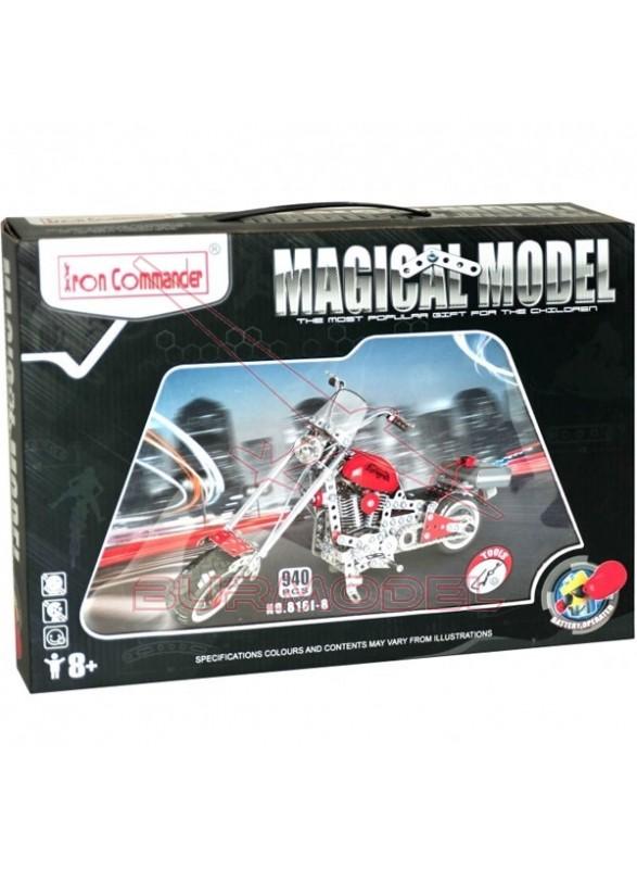 Juego de montar moto de metal 940 piezas