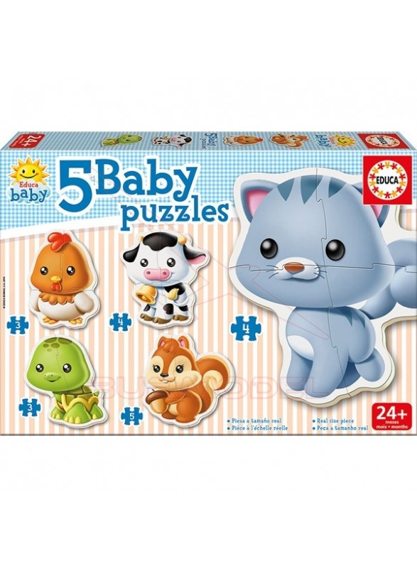 Puzzles infantiles de animales 3, 4 y 5 piezas