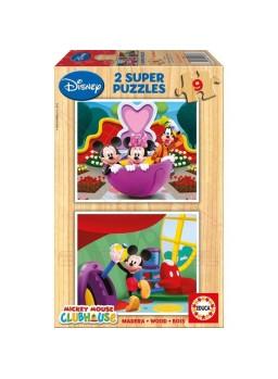 Puzzle madera 2x9 piezas La Casa de Mickey