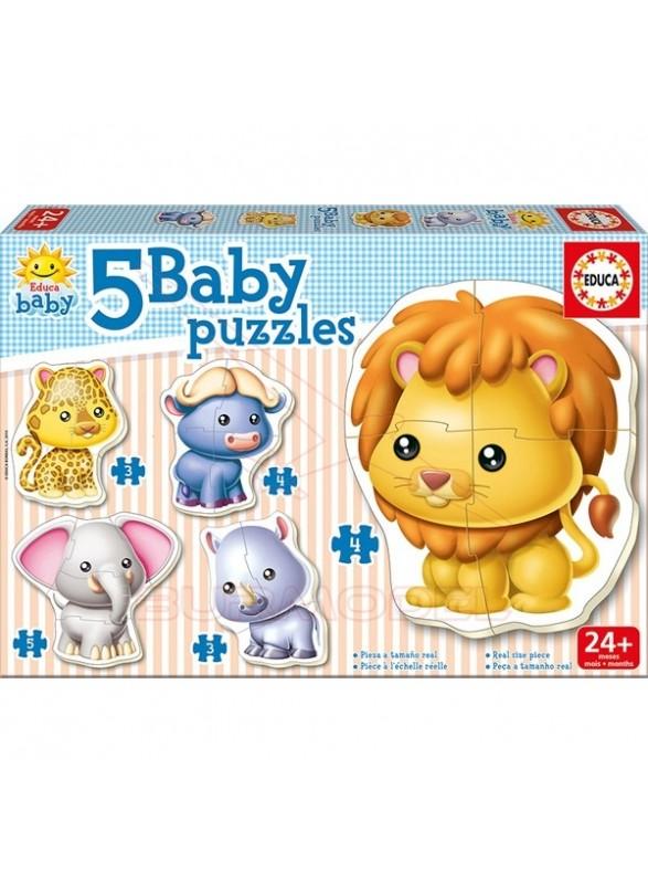 Puzzles infantil de animales 3, 4 y 5 piezas