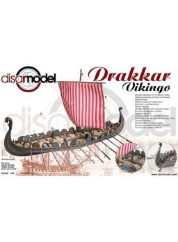 Maqueta Barco de madera vikingo Drakkar 1/48