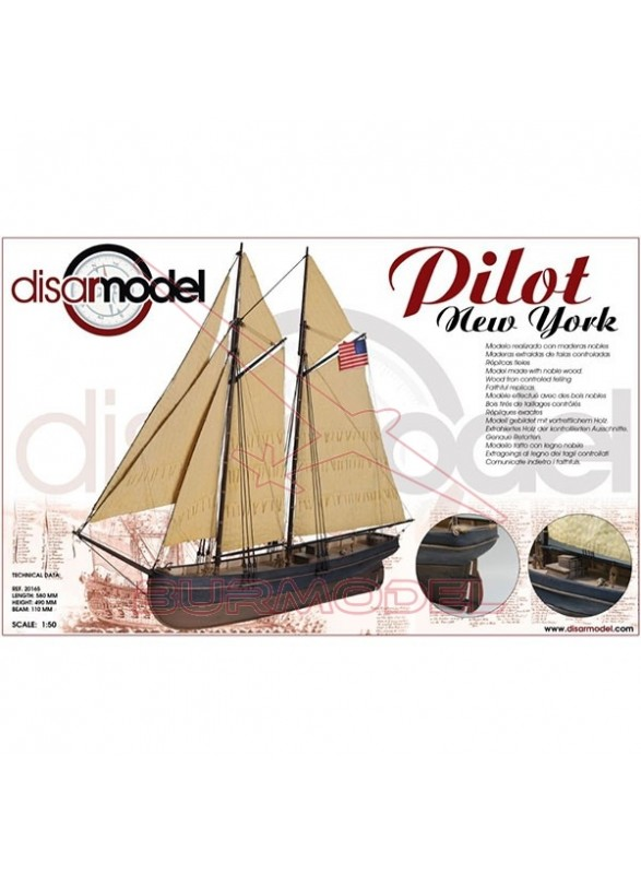 Maqueta Barco de madera Pilot New York 1/50