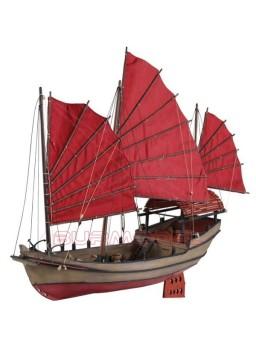Barco de madera Junco Chino para construir