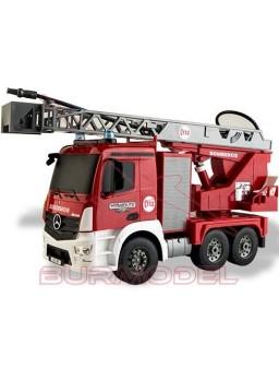 Camión de bomberos radiocontrol con luces 1/20