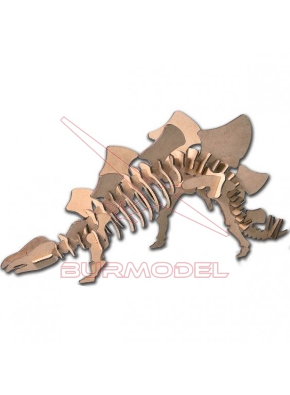 Maqueta de madera Estegosaurio