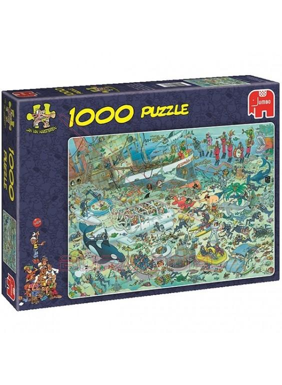 Puzzle comic Diversión en el fondo del mar 1000pcs