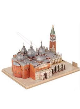 Puzzle 3D Plaza de San Marcos de Venecia 107 pieza