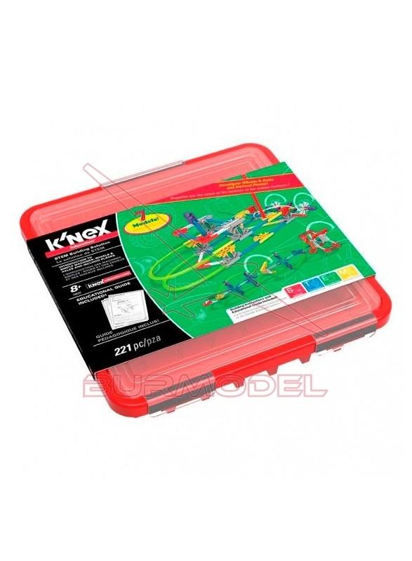 Knex ruedas, ejes y planos inclinados 221 piezas