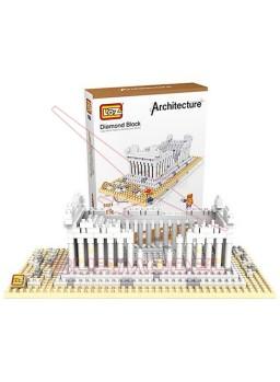 Juego construcción mini bloques templo Griego 600p