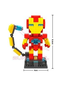 Juego construir Iron Man con minibloques 220 pieza