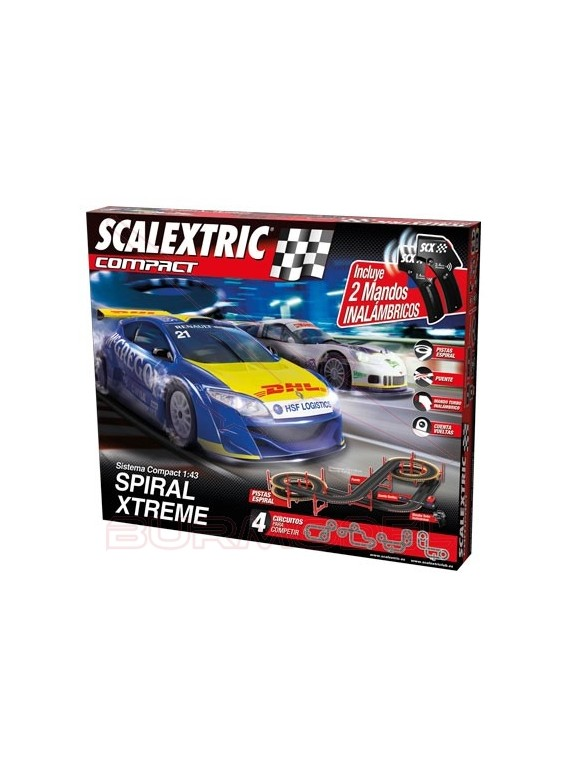 Circuito Scalextric Compact Spiral Xtrem wireless