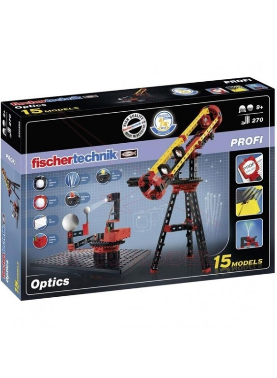 Juego experimental Fischer Technik Optics 15 modelos