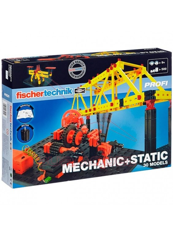 Fischer Technik Mecánica + Estática 30 modelos