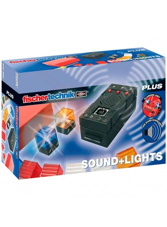 Set Fischer Technik luces y sonido