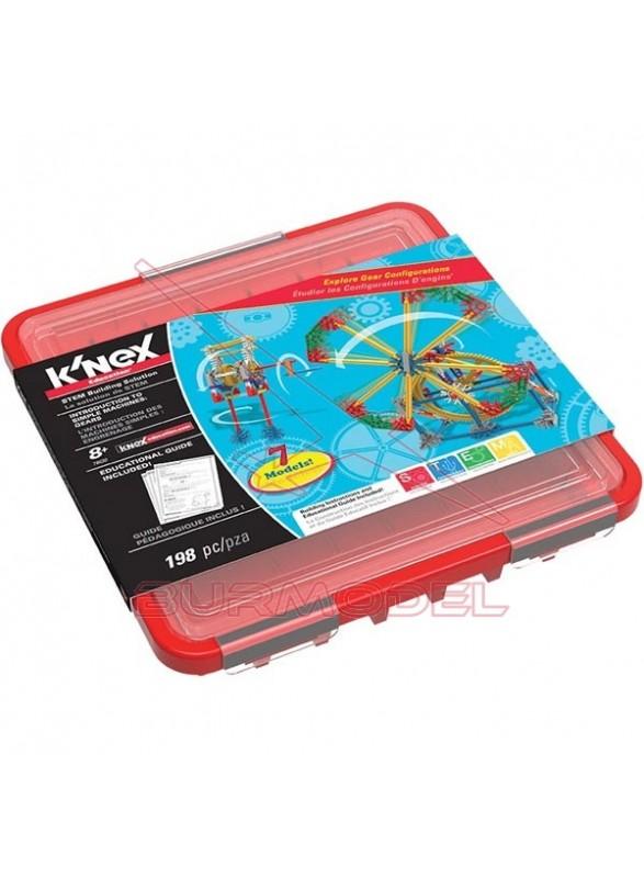 Knex juego de construcción engranajes 198 piezas