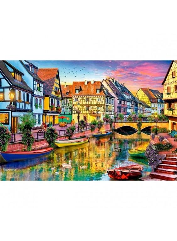 Puzzle 4000 piezas Canal de colmar, Francia