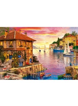 Puzzle 5000 piezas Puerto mediterráneo