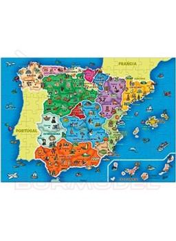 Puzzle Mapa de España 137 piezas 50x35,5cm