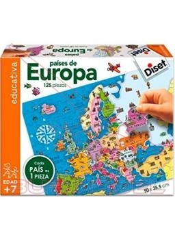 Puzzle Mapa de Europa 125 piezas 50x35,5cm