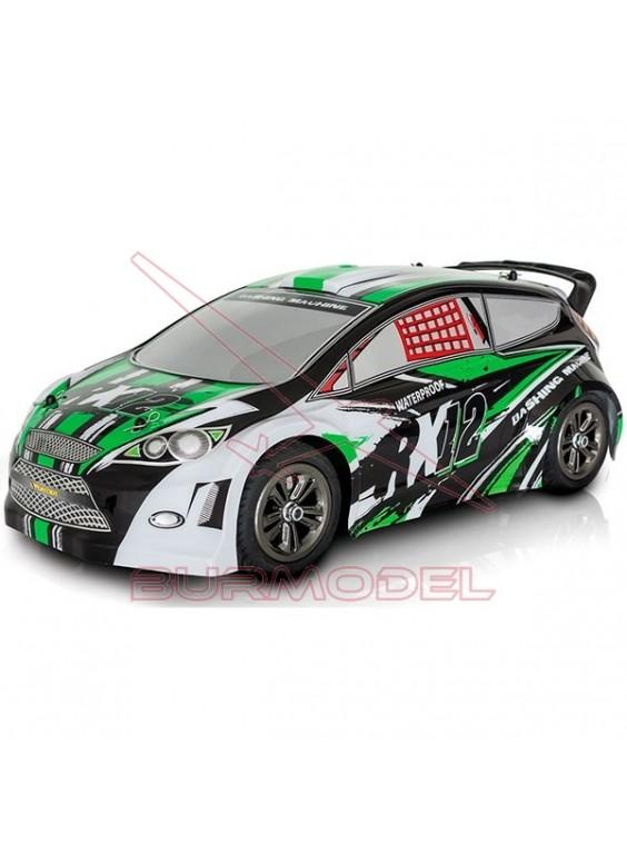 Coche de rally Funtek RX12 verde escala 1/12