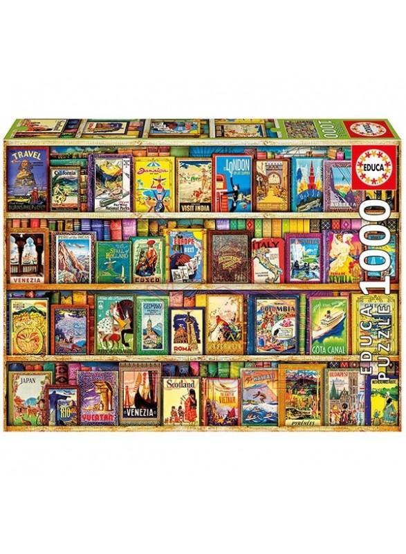 Puzzle Educa Viajando por el mundo 1000 piezas