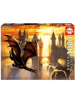 Puzzle de 1000 piezas Dragon Sunset de Educa