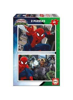 Puzzles Spiderman 2x48 piezas