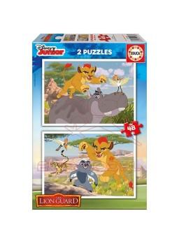 Puzzle La guardia del León 2x48 piezas