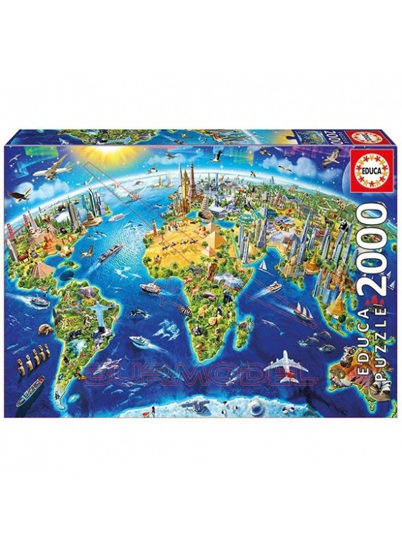 Puzzle 2000 piezas Educa Símbolos del mundo